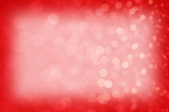 Red Sparkly Background Texture Frame. Red glitter bokeh background texture, frame Royalty Free Stock Photo