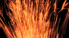 Red sparks shoot upwards Royalty Free Stock Photography