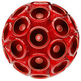 Red Speaker sphere Royalty Free Stock Images