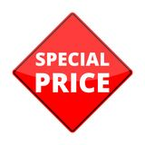Red special price sign Royalty Free Stock Photos