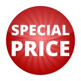 Red special price sign Royalty Free Stock Images
