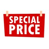 Red Special Price Sign - vector illustration Stock Photography