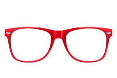 Red Spectacles Isolated Royalty Free Stock Photo