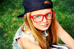 Red spectacles Stock Photography