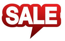 Red speech balloon with word SALE Royalty Free Stock Photo