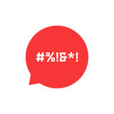 Red speech bubble with abstract swearing Royalty Free Stock Images