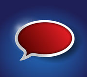 Red Speech bubble, communication concept Royalty Free Stock Images