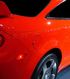 Red speed. Closeup of an automobile royalty free stock photos