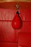 Red speed bag. Red boxers speed bag Royalty Free Stock Image