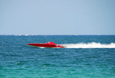 Red speedboat Royalty Free Stock Photo