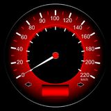 Red speedometer car Stock Photography