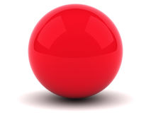 Red sphere. On white background with shadow royalty free illustration