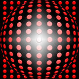 Red sphere 3d background Stock Images