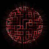 Red sphere stock photography
