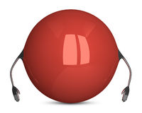 Red sphere character Stock Photography