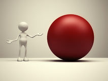 Red sphere Royalty Free Stock Photography