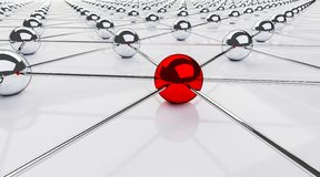 Free Red Sphere Network Structure. Connection Abstract Design Stock Photography - 158027722