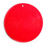 Red Sphere Tag Label Royalty Free Stock Photography