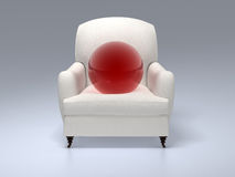 Red sphere Royalty Free Stock Photos