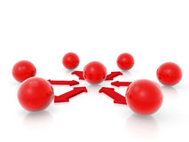 Red spheres Stock Photography