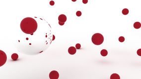 Red spheres Royalty Free Stock Photography