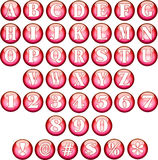 Red Spherical Fonts  Stock Image