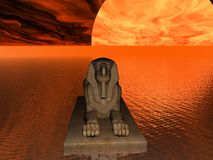 Red Sphinx Stock Photography