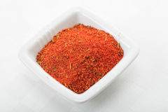 Red spice mixture for fish courses Stock Photography