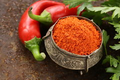 Red spice paprika pepper Royalty Free Stock Photos