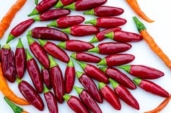 Red and orange chilli Royalty Free Stock Photos