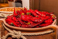 Red spicy chilly pepper Stock Photography