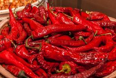 Red spicy chilly pepper Royalty Free Stock Photos