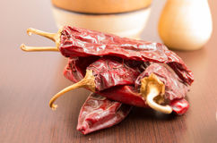 Red spicy dried chilli chile aji Royalty Free Stock Photography