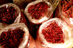 Red spicy pepper. In the bag , thailand , fresh market Stock Photography