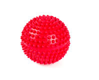 Red spiky ball. Red ball isolated on white Stock Images