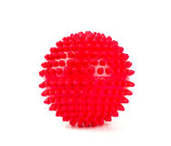 Red spiky ball. Red ball on a white background Royalty Free Stock Photo