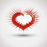 Red spiky heart Stock Photos
