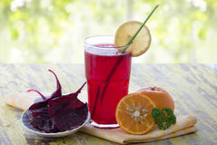 Red Spinach juice Stock Images