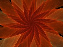 Red Spinner Flower. A crazy and pointy red fractal flower Stock Image