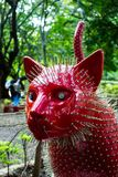 Red and spiny Cat in Cats Park in Cali, Colombia Stock Images