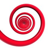 Red spiral Stock Image
