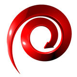 Red spiral arrow 3D Stock Photography