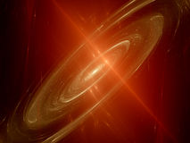 Red spiral galaxy Royalty Free Stock Image