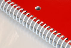 Red Spiral Notebook Stock Image