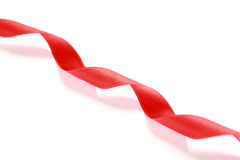 Red spiral ribbon Royalty Free Stock Image