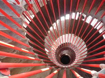 Red spiral staircase Royalty Free Stock Photo