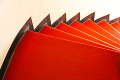 Red spiral stairs Royalty Free Stock Image