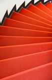 Red spiral stairs Royalty Free Stock Photography