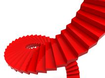 Red spiral stairs Stock Photos