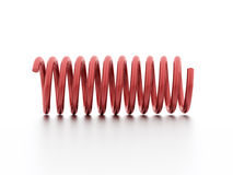 Red spiral string isolated on white Stock Photo